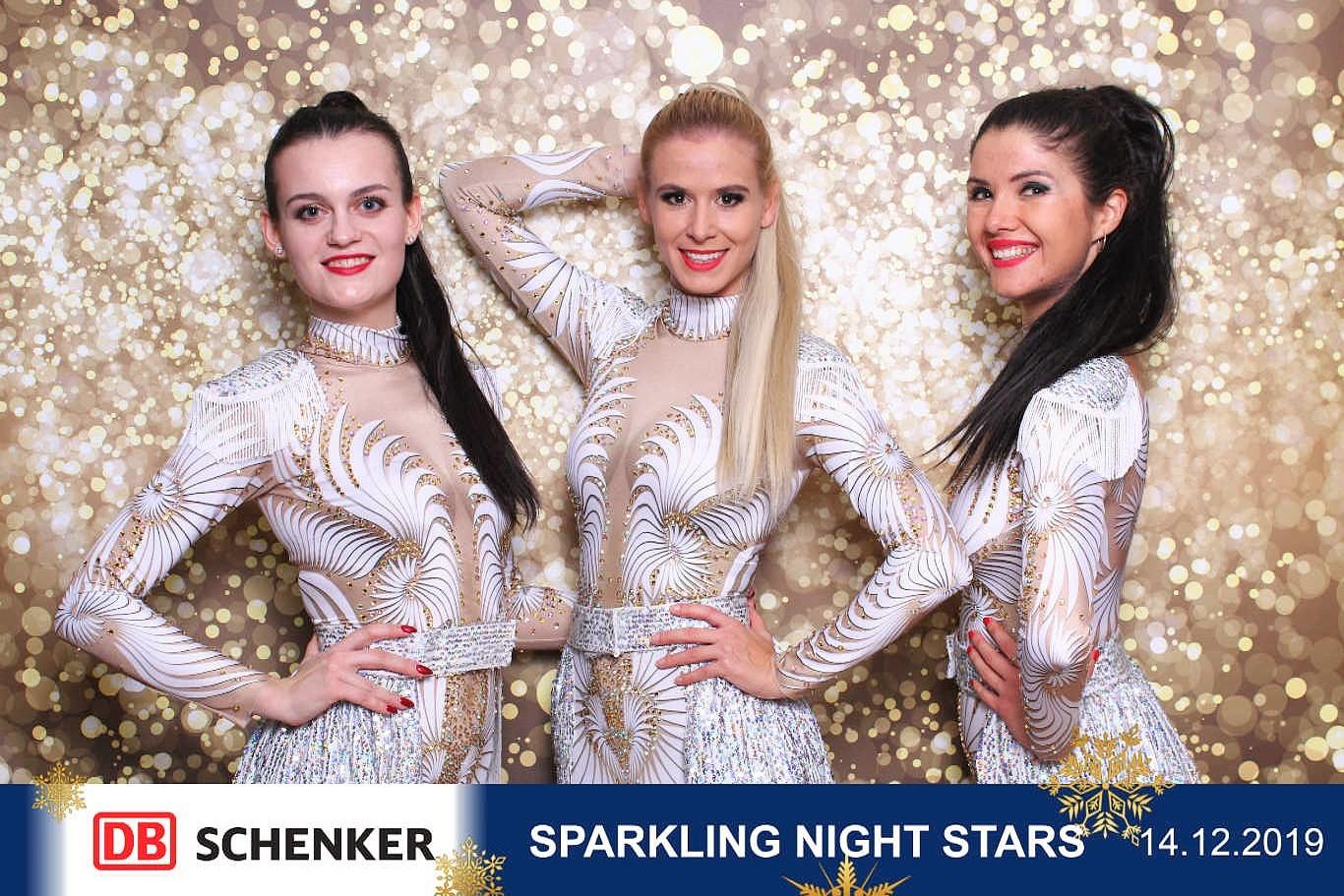 Sparkling night stars